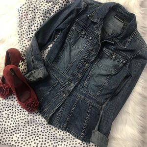 HOST PICK!  DKNY Jeans peplum jacket - size XS